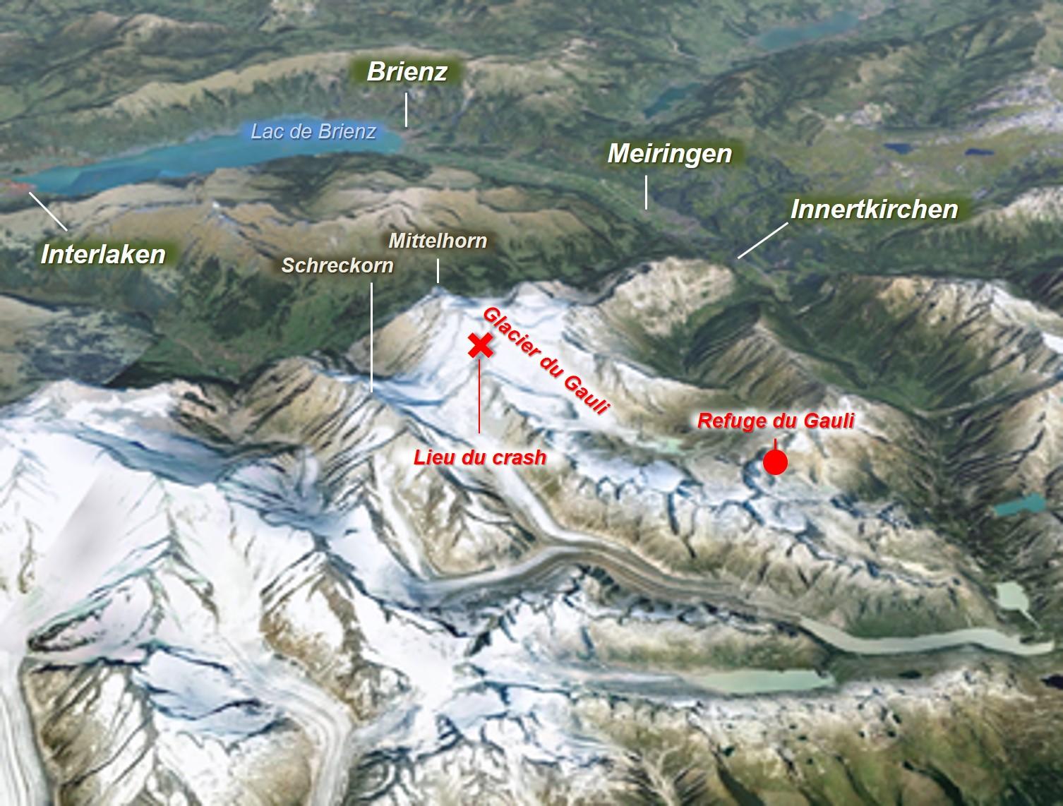 19 novembre 1946 – Un avion militaire américain s'écrase sur un glacier  suisse – Pilote de montagne